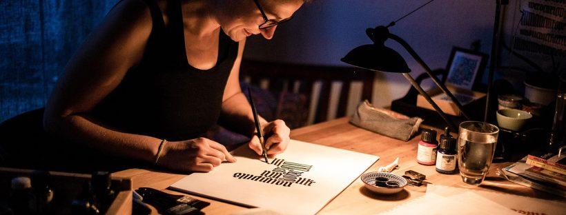 Kalligrafiekurs für Linkshänder